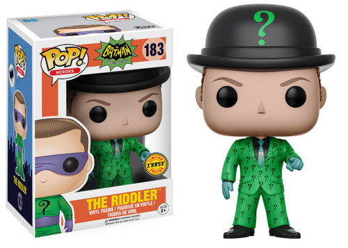 Funko DC Batman 1966 TV Series POP! Heroes The Riddler Vinyl Figure #183 [With Hat, Chase Version, Damaged Package]