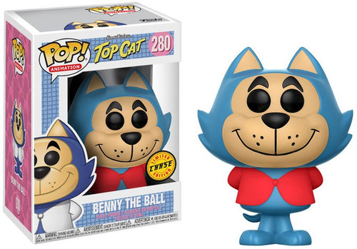 Funko Hanna-Barbera Top Cat POP! Animation Benny the Ball Vinyl Figure #280 [Red Shirt Chase Version, Damaged Package]