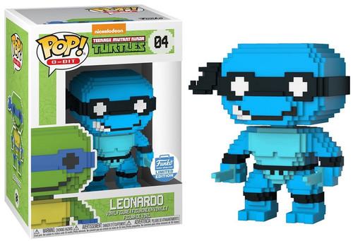 Funko Teenage Mutant Ninja Turtles POP! 8-Bit Neon Leonardo Exclusive Vinyl Figure #04 [Damaged Package]