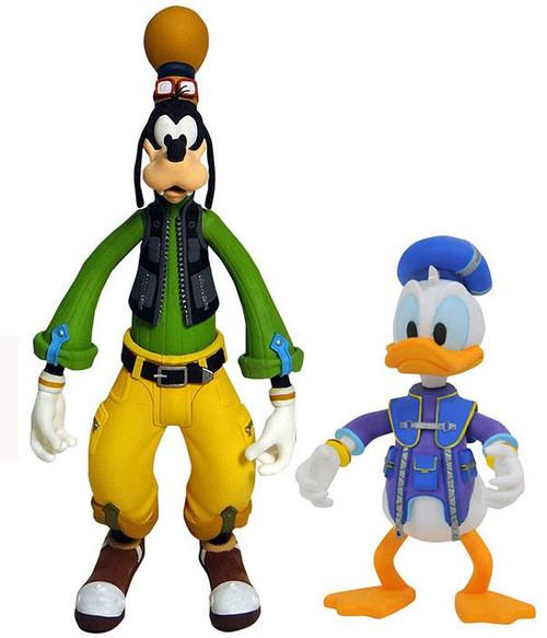 Disney Kingdom Hearts 3 Series 1 Goofy & Donald Duck Action Figure 2-Pack
