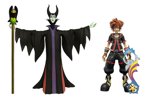 Disney Kingdom Hearts 3 Sora & Maleficent with Diablo Action Figure 2-Pack