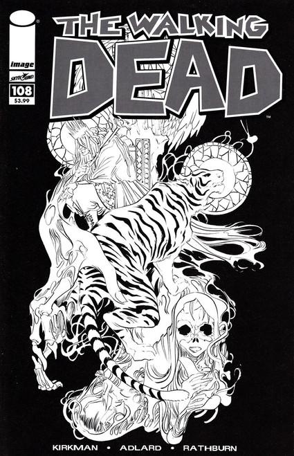 Image Comics The Walking Dead #108 Comic Book [Black & White Walking Dead Day Cover]
