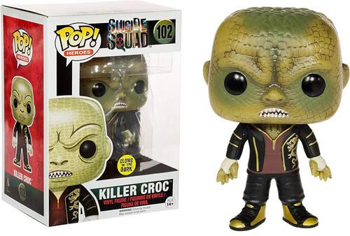 Funko Suicide Squad POP! Movies Killer Croc Exclusive Vinyl Figure #102 [Glow-in-the-Dark]