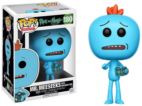 Funko Rick & Morty POP! Animation Mr. Meeseeks Exclusive Vinyl Figure #180 [with Meeseeks Box]