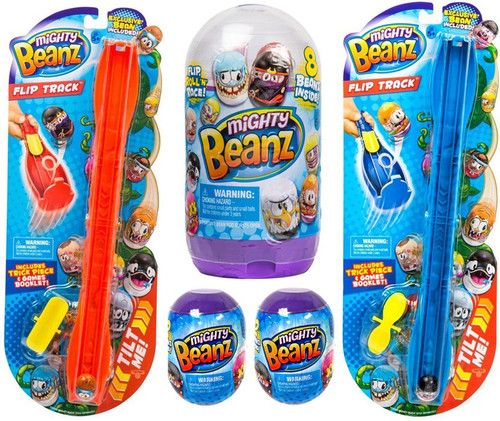 Mighty Beanz 2x Flip Tracks, 2x Mystery Packs & 1x Bean Pod Slam Pack Holiday Combo Gift Set
