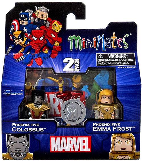 Marvel Minimates Exclusives Phoenix Five Colossus & Phoenix Five Emma Frost Exclusive Minifigure 2-Pack
