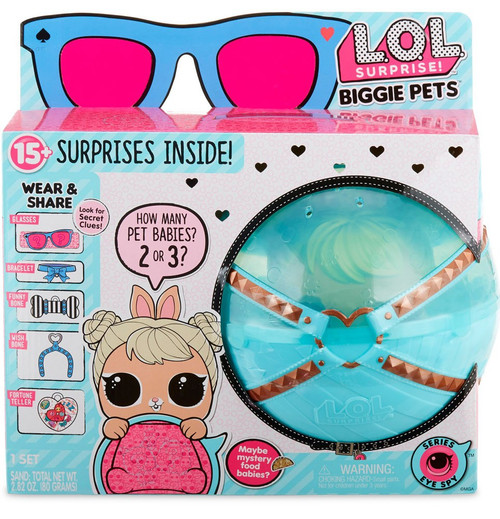 LOL Surprise Series 4 Eye Spy Pets Cottontail Q.T. Biggie Pets