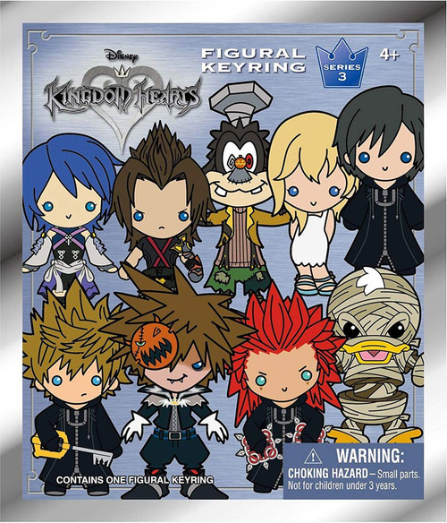 Disney 3D Figural Keyring Kingdom Hearts Series 3 Mystery Pack