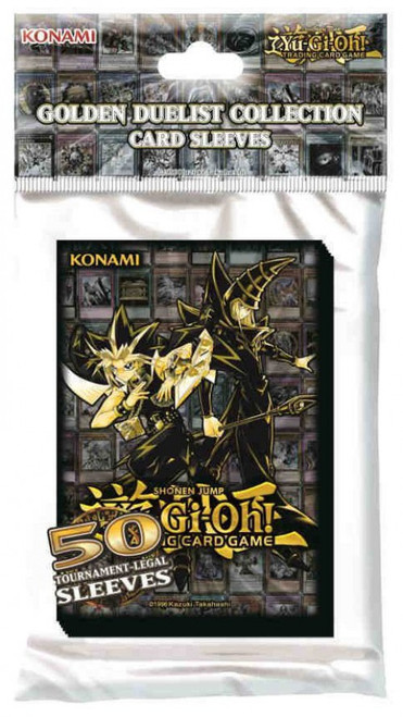 YuGiOh Trading Card Game Golden Duelist Card Sleeves [50 Count]
