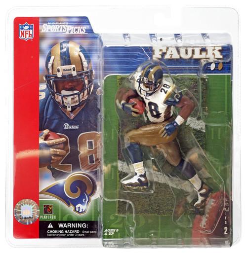 McFarlane Toys NFL St. Louis Rams Sports Picks Series 2 Marshall Faulk Action Figure [White Jersey]