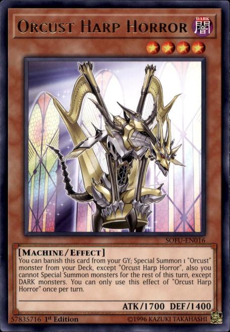YuGiOh Soul Fusion Rare Orcust Harp Horror SOFU-EN016