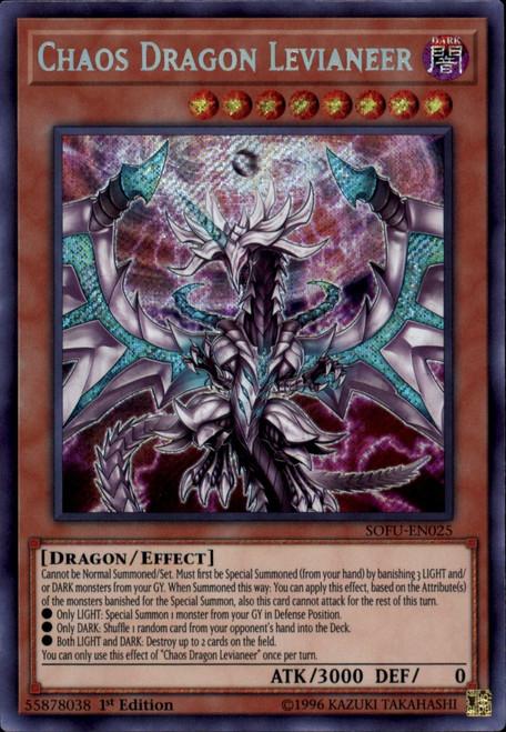 YuGiOh Soul Fusion Secret Rare Chaos Dragon Levianeer SOFU-EN025