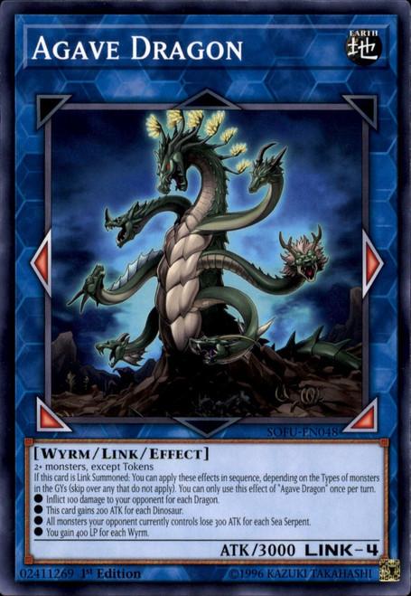 YuGiOh Soul Fusion Common Agave Dragon SOFU-EN048