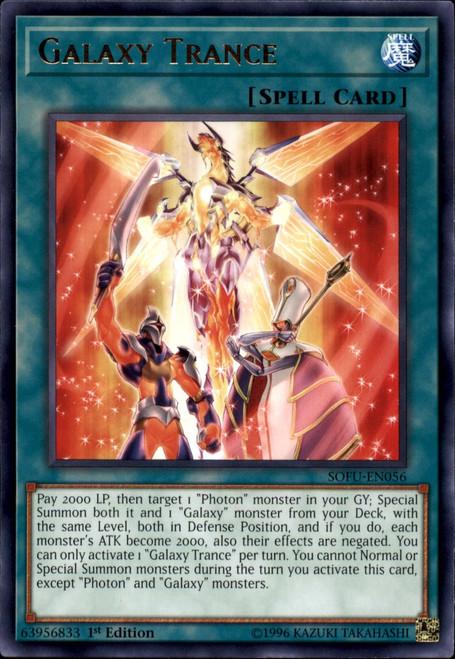 YuGiOh Soul Fusion Rare Galaxy Trance SOFU-EN056