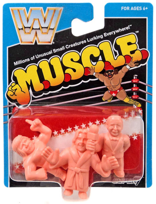 WWE Wrestling M.U.S.C.L.E. Mean Gene, Iron Shiek & Ric Flair 3-Pack