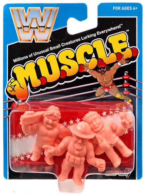 "WWE Wrestling M.U.S.C.L.E. ""Hacksaw"" Jim Duggan, Sgt. Slaughter & Million Dollar Man 3-Pack"