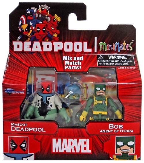 Marvel Minimates Series 65 Mascot Deadpool & Bob Agent of Hydra Minifigure 2-Pack