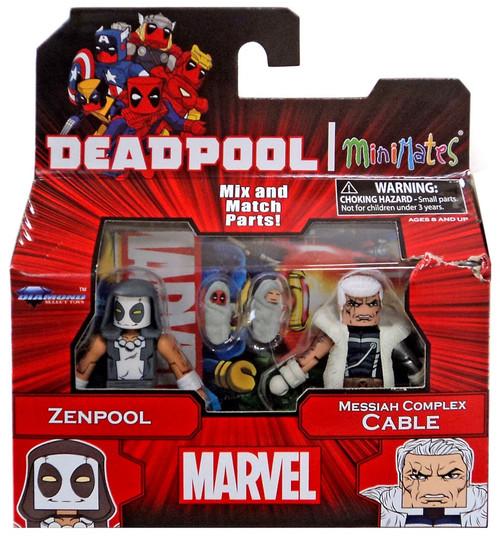 Marvel Deadpool Minimates Series 65 Zenpool & Messiah Complex Cable Minifigure 2-Pack
