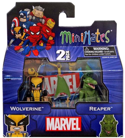 Marvel Minimates Wolverine & Reaper Minifigure 2-Pack
