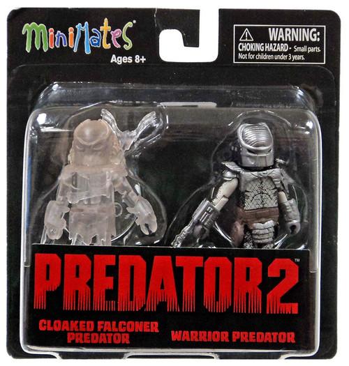 Predator 2 Minimates Series 3 Cloaked Falconer Predator & Warrior Predator 2-Inch Minifigure 2-Pack
