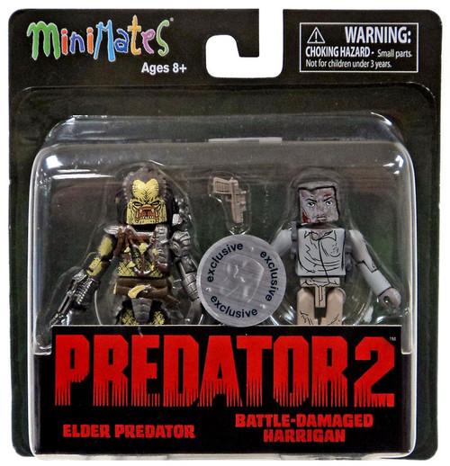 Predator 2 Minimates Series 2 Elder Predator & Battle-Damaged Harrigan Exclusive 2-Inch Minifigure 2-Pack