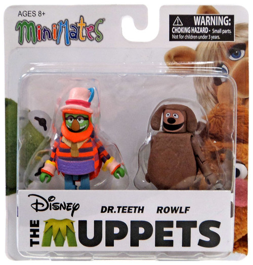 The Muppets Minimates Series 2 Dr. Teeth & Rowlf 2-Inch Minifigure 2-Pack