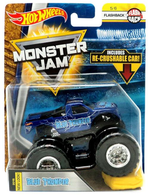 Hot Wheels Monster Jam 25 Blue Thunder Die-Cast Car #5/6 [Flashback]