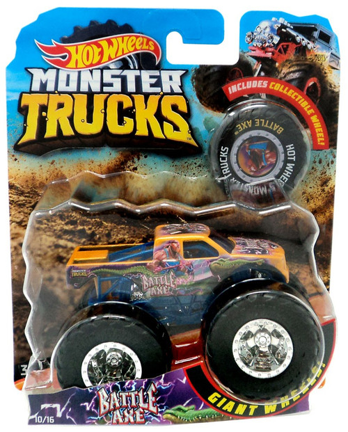 Hot Wheels Monster Trucks Battle Axe Die-Cast Car [Collectible Wheel]