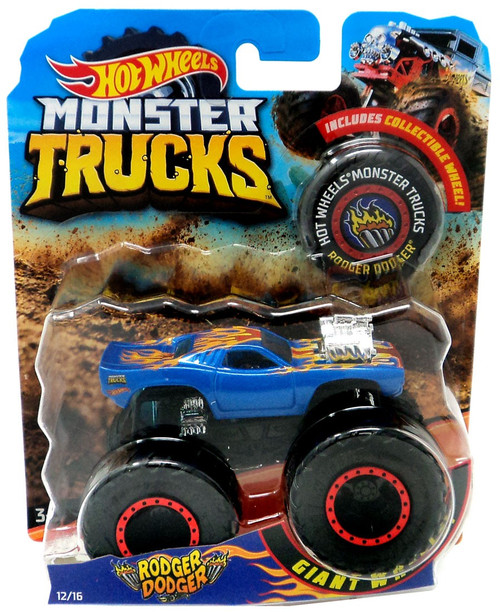Hot Wheels Monster Trucks Rodger Dodger Diecast Car [Collectible Wheel]