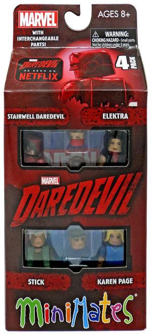 Marvel Daredevil Netflix Minimates Stairwell Daredevil, Elektra, Stick & Karen Page 2-Inch Minifigure 2-Pack