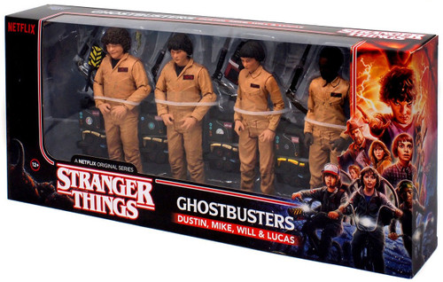 McFarlane Toys Stranger Things Ghostbusters Exclusive Action Figure 4-Pack [Dustin, Mike, Will & Lucas]
