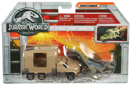Jurassic World Matchbox Armored Raptor Hauler Diecast Vehicle