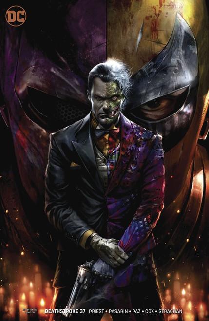 DC Deathstroke #37 Arkham Comic Book [Francesco Mattina Variant Cover]