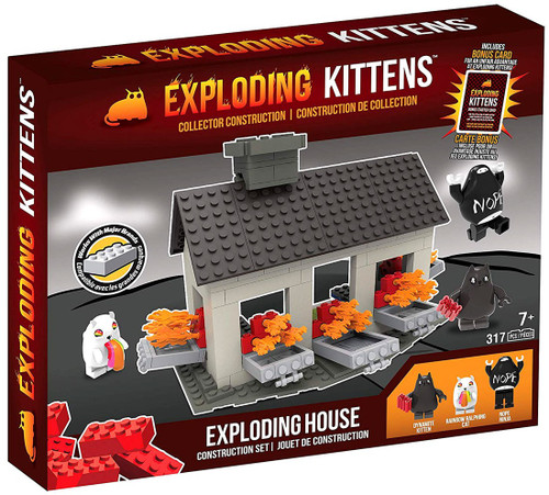 Exploding Kittens C3 Construction Exploding House Scene Set
