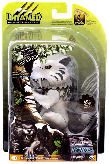 Fingerlings Untamed Sabretooth Silvertooth Figure