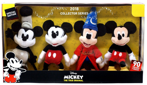 Disney Mickey the True Original 90 Years of Magic Mickey Mouse 8-Inch Plush 4-Pack
