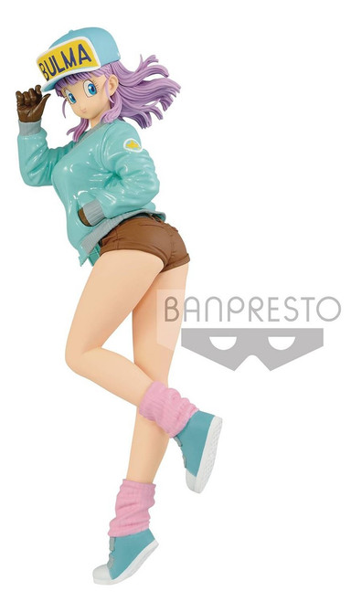 Dragon Ball Z Glitter & Glamour Bulma 9.8-Inch PVC Figure [Blue Jacket & Hat]