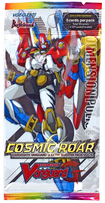 Cardfight Vanguard Trading Card Game Cosmic Roar Booster Pack [5 Cards]