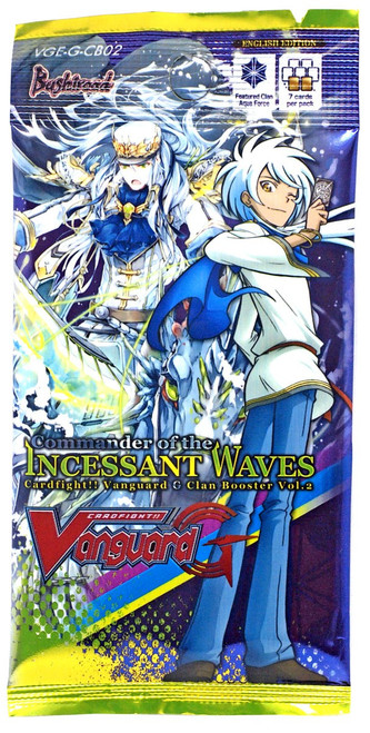 Cardfight Vanguard G Commander of the Incessant Waves Booster Pack VGE-G-CB02 [7 Cards]