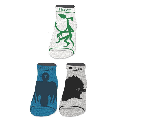 Harry Potter Fantastic Beasts and Where to Find Them: The Crimes of Grindelwald Fantastic Beasts Ankle Socks 3-Pack