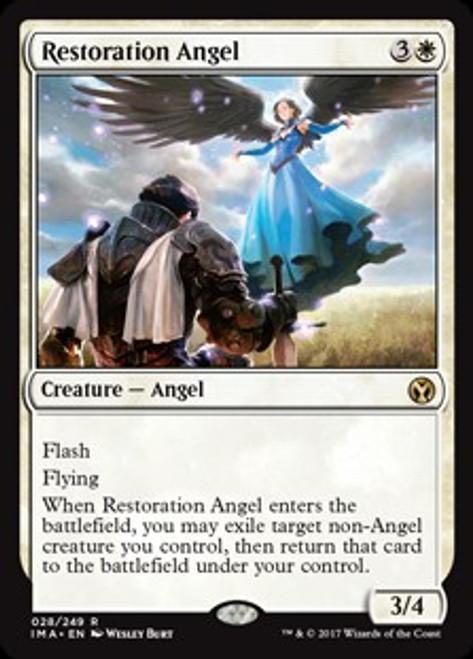 MtG Iconic Masters Rare Foil Restoration Angel #28