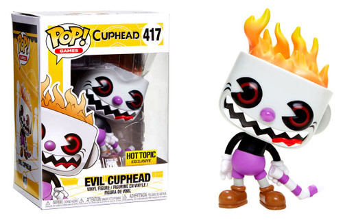 Funko POP! Games Evil Cuphead Exclusive Vinyl Figure #417