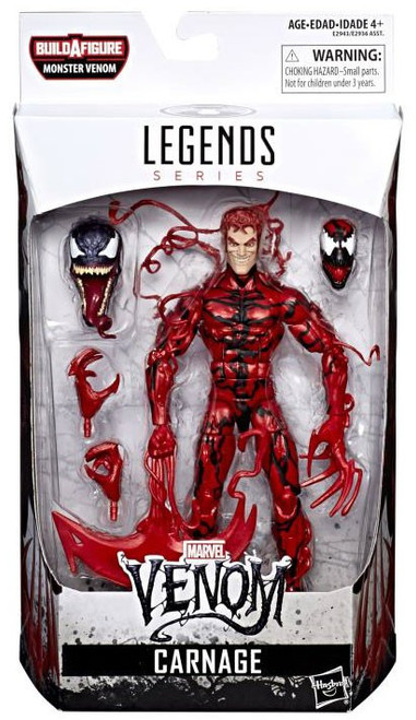 Marvel Legends Monster Venom Series Carnage Action Figure [Damaged Package]