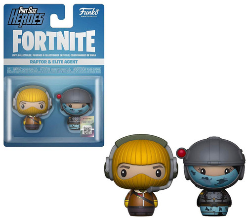 Funko Fortnite Pint Size Heroes Raptor & Elite Agent Vinyl Figure 2-Pack