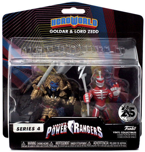 Funko Power Rangers Hero World Series 4 Goldar & Lord Zedd Exclusive 4-Inch Vinyl Figure 2-Pack