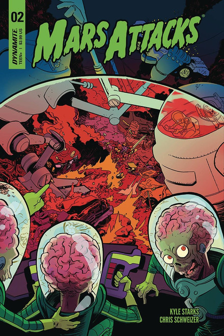 Dynamite Entertainment Mars Attacks #2 Comic Book