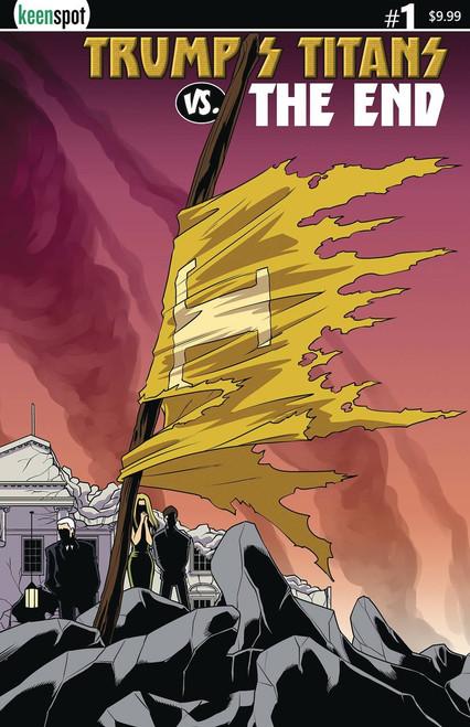 Keenspot Entertainment Trumps Titans Vs The End #1 Comic Book [Cape on a Stick Cover C Variant]