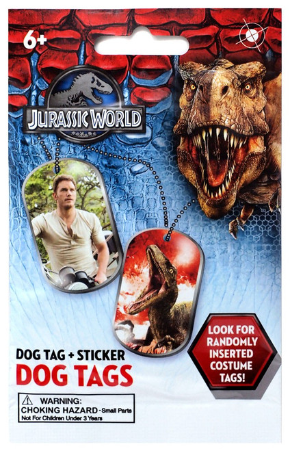 Jurassic World Dog Tag & Sticker Mystery Pack