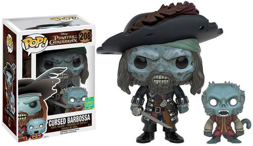 Funko Pirates of the Caribbean POP! Disney Cursed Barbossa Exclusive Vinyl Figure #208