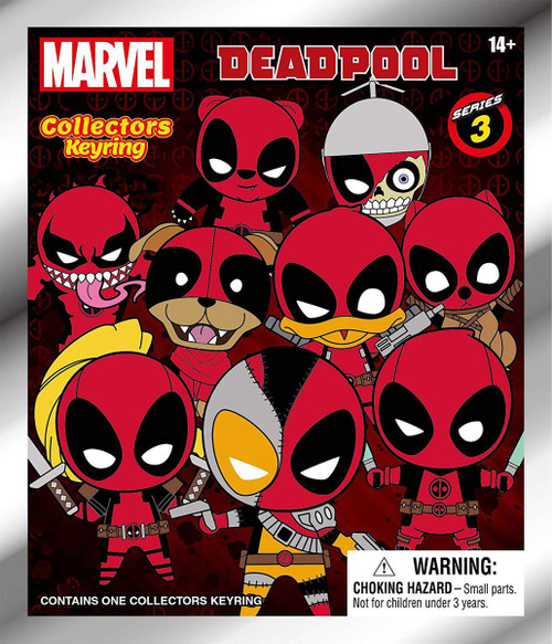 Marvel 3D Figural Keyring Deadpool Series 3 Mystery Pack [1 RANDOM Figure]